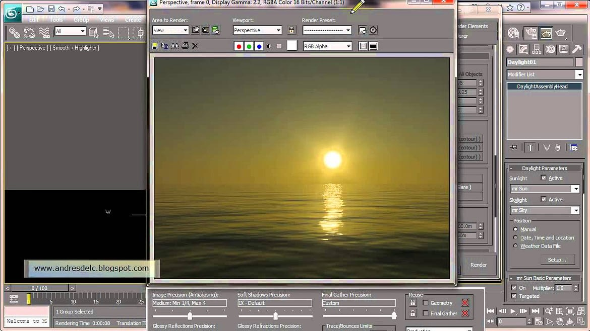 How to Create Ocean in 3ds Max Using Mental Ray