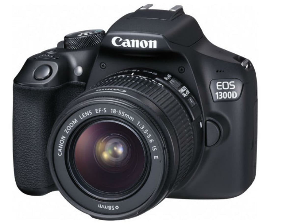 The Menu Tabs on the Canon EOS 1300D, or Rebel T6 DSLR Camera