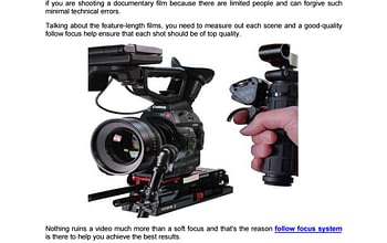why you should consider follow focus puller Why You Should Consider Follow Focus Puller