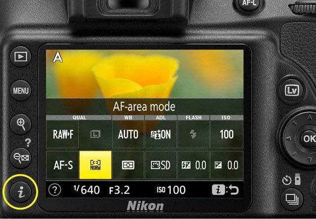 The Nikon D3400 DSLR – Changing the ISO and the Monitor Brightness