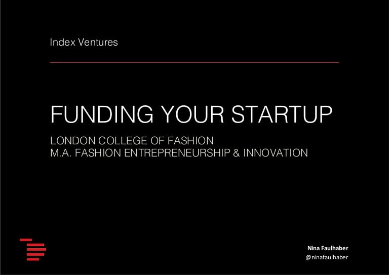 Funding A Startup 101