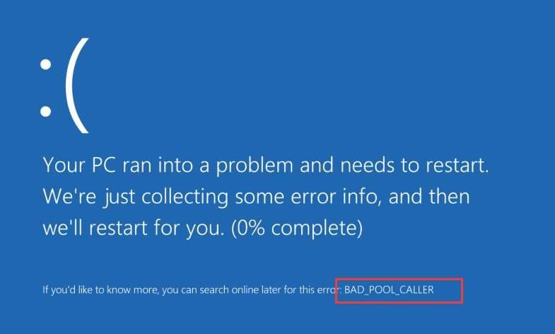 Bad Pool Caller Error – How to Fix the Bad Pool Caller Blue Screen Error on Windows